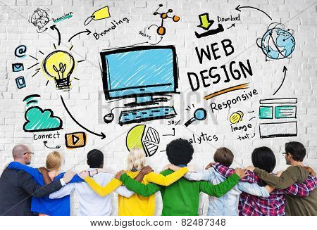 Content Creativity Digital Graphic Layout Web Design Web Page Concept