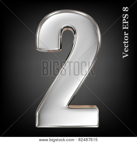 Vector 3d metal number collection - 2. Eps 8 using mesh.