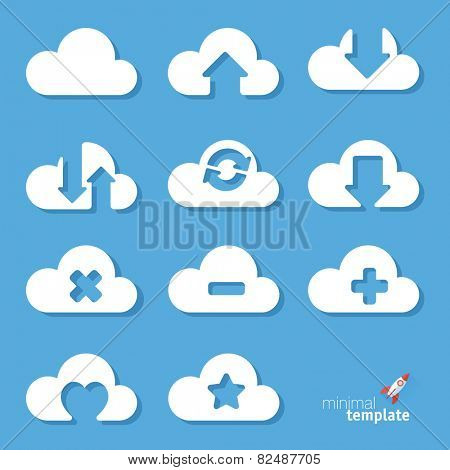 Clouds. Vector icon set.