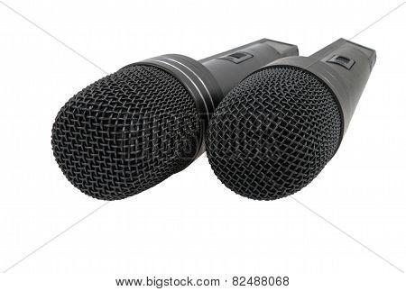 Two Black Radiomicrophones