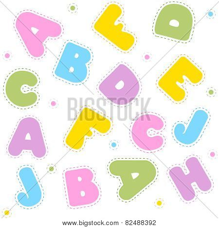 Alphabet Seamless Pattern