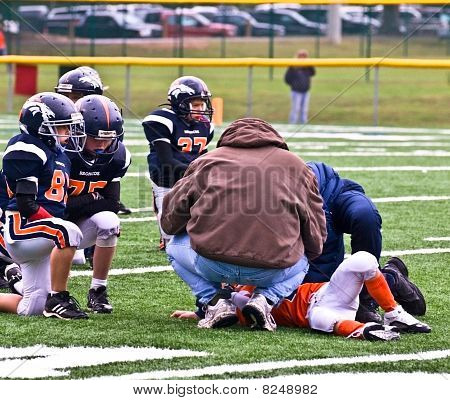 Injured Player Youth Football