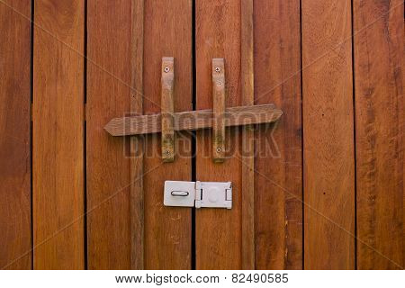 Obsolete Wooden Door Bolt, Thai Tradition