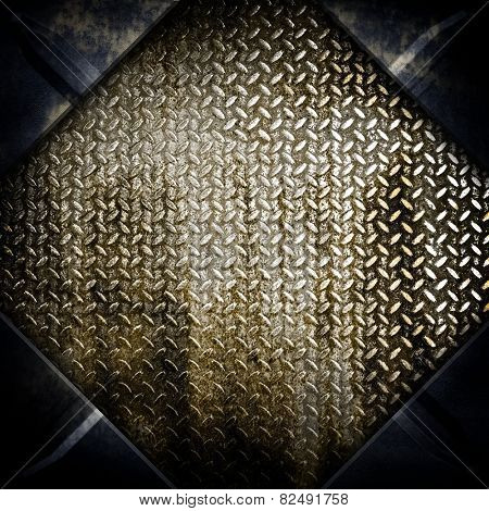 rhombus diamond plate background