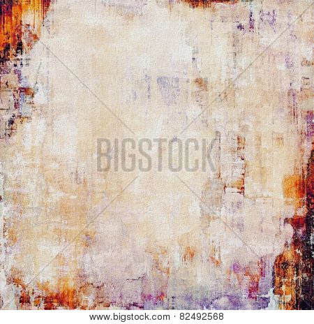 Grunge aging texture, art background. With different color patterns: yellow (beige); red (orange); gray; purple (violet)