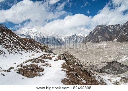 Himalayas. Ngozumba Glacier ,  Nepal