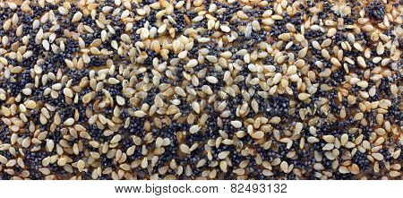 Background Of Buns With Sesame Seeds