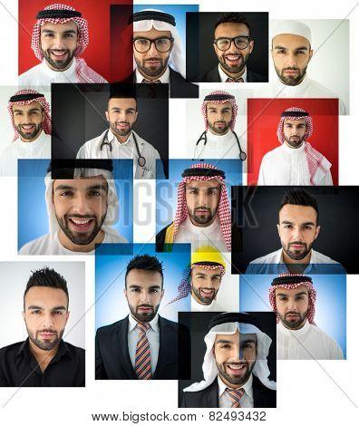 Arabic man collage