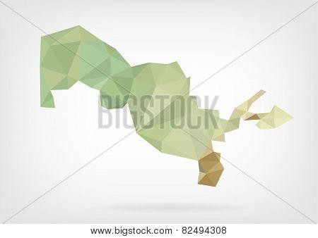 Low Poly map of Uzbekistan