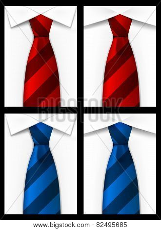 Tie red blue background