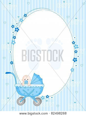 Baby Boy Arrival Card Blue