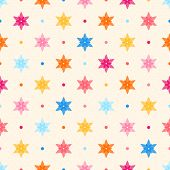 stock photo of dots  - Retro seamless pattern - JPG