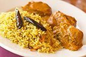 pic of tamarind  - Vegetarian Malai Kofta balls in gravy sauce with tamarind basmati rice - JPG