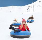 foto of snow-slide  - winter - JPG
