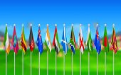 image of west indies  - illustration of Flags of participating countries of cricket 2015 - JPG
