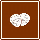 picture of cobnuts  - hazelnuts sign - JPG