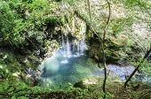 foto of incredible  - Very beautiful waterfall in the mountain of Navarra in Spain - JPG