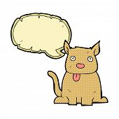 stock photo of sticking out tongue  - cartoon dog sticking out tongue with speech bubble - JPG