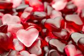 stock photo of jelly beans  - candy heart jelly beans Valentine full-frame wallpaper
