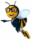 stock photo of bumble bee  - Fun bee - JPG