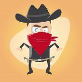 picture of gunslinger  - funny cartoon gunslinger - JPG