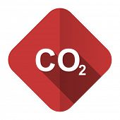 picture of carbon-dioxide  - carbon dioxide flat icon co2 sign  - JPG