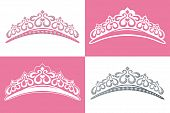 stock photo of tiara  - This graphic is 4 tiara image - JPG