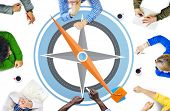 picture of longitude  - Navigation Compass Direction Exploration Guide Journey Concept - JPG