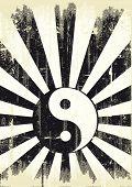 picture of yang  - grunge yin yang flag - JPG