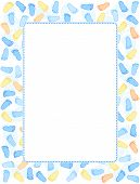 picture of baby feet  - Baby foot prints frame  - JPG