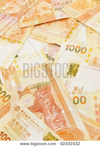 Group of thousand Hong Kong dollar