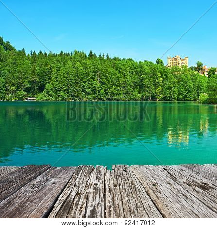 Alpsee lake at Hohenschwangau near Munich in Bavaria, Germany
