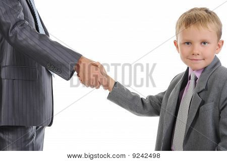 Handshake Man And Boy