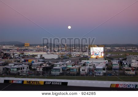 Moonrise Over Grandstand