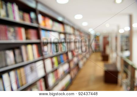 Natural bokeh out of focus Bookstore