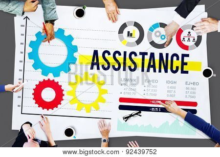 Assistance Assist Support Help Team Corporate Concept