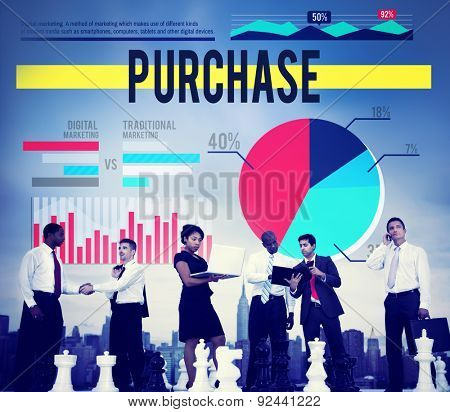 Purchase Buy Commerce Sale Retail Marketing Concept