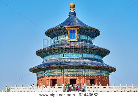 Beijing , China - September 24, 2014: people tourist visiting the Temple of Heaven Beijing China