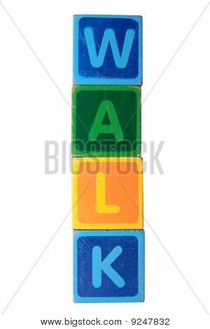 Walk In Toy Block Letters
