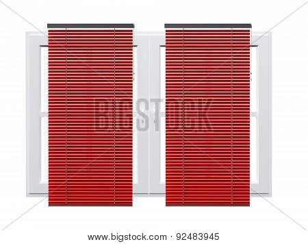 Striped Curtain On Windows