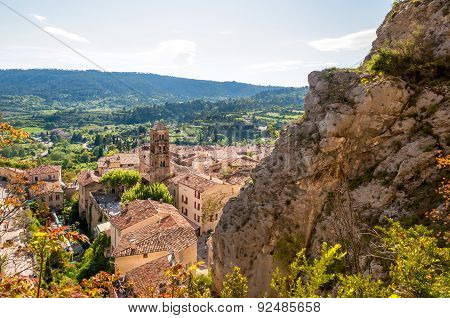 Scenic View Of Old Village Moustiers Sainte-marie In Provence