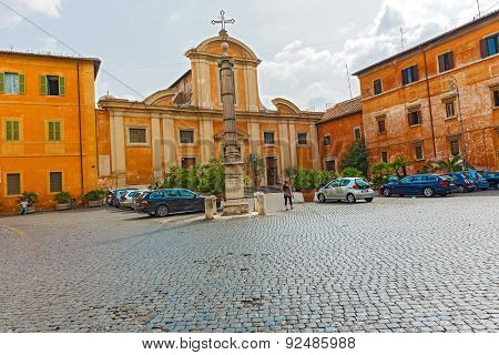 Church Of San Francesco A Ripa In Rome, Italy.
