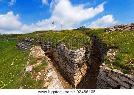 First World War - Trenches In Lessinia Italy