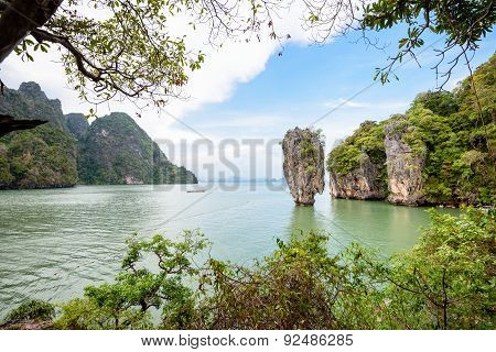 High Angle View Khao Tapu Or James Bond Island