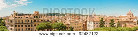 Panorama Of Rome, Italy