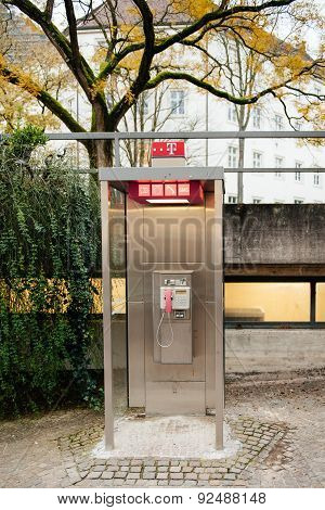 Pay Phone Booth In Germany