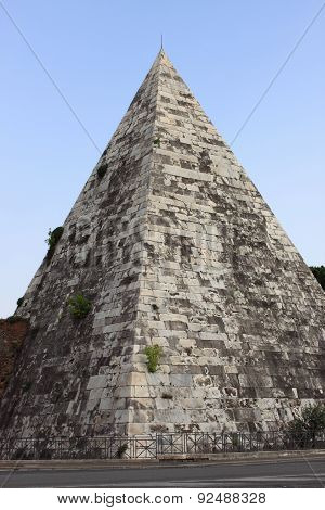 Cestia Pyramid in Rome
