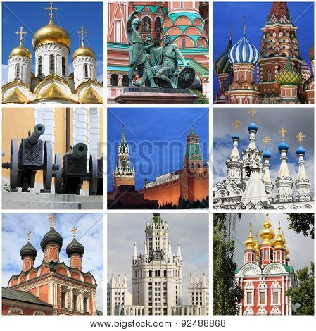 Moscow Landmarks Collage