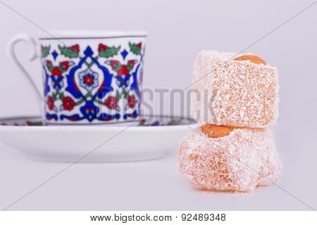 Turkish Delights With Coffee Cup