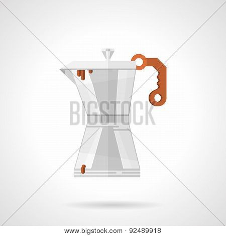 Coffee maker flat color vector icon